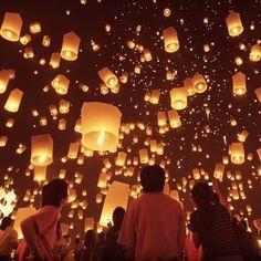 Annual Sky Lantern festival in Taiwan