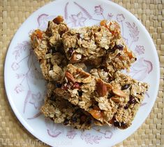 Camping Recipes: Cranberry Honey Oat Bars -- These are so yummy. Made them for our family vacation and they were GONE in no time flat! Plus they smell amazing when you're making them. Yum!