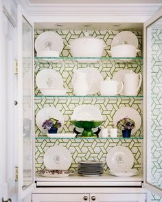 wallpaper in cabinet or bookcase