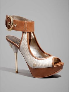 GUESS by Marciano Appa Platform Sandal, (high heels, sexy heels, sexy shoes, stiletto, patent, sexy, shoes, womens shoes)