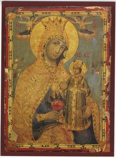 Icons of Mount Athos Part 5 Jesus And Mary Pictures, Mary And Jesus, Religious Icons, Religious Art, Religious Paintings, Byzantine Icons, Madonna And Child, Icon Collection, Orthodox Icons