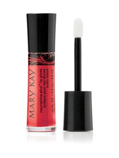 Mary Kay® NouriShine Plus® Lip Gloss – Rock 'n' Red (Non-Shimmer).Get brilliant shine and an instant boost of moisture that leaves lips feeling nourished.