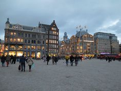 DAM SQUARE, AMSTERDAM: This is the main square in the city  and is only a 10 minute walk from the Centraal Station. The square was built in the 1400's and has been a central point for the city ever since. On the square you will find the amazing Royal Palace, the National Monument that pays tribute to fallen soldiers, the Neuwe Kerk church which often contains art exhibitions, and a selection of architecturally rich hotels and shops.