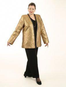 21f78c57c7610 Coco Jacket in La Croix Gold Brocade (Plus-Size) SHOP NOW  Unique jackets  for women Sizes 14 - mother of the bride