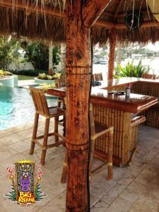 Our Portfolio - Big Kahuna Tiki Huts Tiki Bar Stools, Tiki Hut, New England, The Neighbourhood, Pergola, Restaurants, Palm, Florida, Outdoor Structures