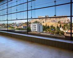 a great view of the Acropolis from the New Acropolis Museum