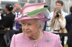 The Queen wearing the largeNizam of Hyderabad rose brooch. Picture by Ben Stevens / i-Images