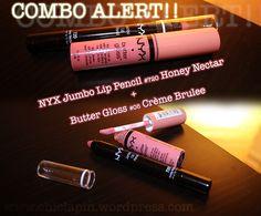 NYX Lip Combo- Jumbo Lip pencil 720 honey nectar Butter Gloss 05 creme brulee www.chiclapin.wordpress.com