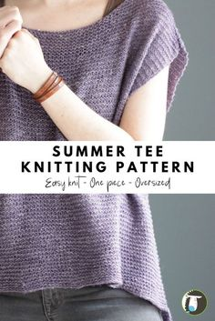 10 Summer Tee Patterns to Knit! This one is an easy to knit. It& worked in . - knitting vest , 10 Summer Tee Patterns to Knit! This one is an easy to knit. It& worked in . 10 Summer Tee Patterns to Knit! This one is an easy to knit. Outlander Knitting Patterns, Knitting Patterns Free, Knit Patterns, Free Knitting, Free Pattern, Knitting Blogs, Blanket Patterns, Knitting Ideas, How To Purl Knit