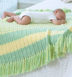 Loving the crochet baby blankets in the new Tunisian eBook from Sharon Silverman