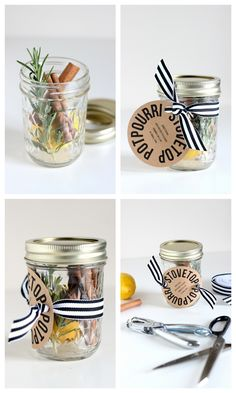 Stove Top Potpourri Neighbor Gifts - Three recipes a free printable! // Delia Creates Stove Top Potpourri Neighbor Gifts - Three recipes a free printable! Homemade Christmas Gifts, Homemade Gifts, Handmade Christmas, Holiday Gifts, Christmas Crafts, Santa Gifts, Holiday Gift Baskets, Basket Gift, Halloween Crafts