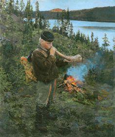 Akseli Gallen-Kallela - Paanajärven paimenpoika,(ensimmäinen versio) 1892
