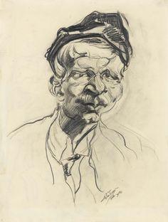 Ludwig Meidner 1884 - 1966 self portrait with cap Ludwig Meidner, The Royal School, Amedeo Modigliani, Willem De Kooning, Auguste Rodin, Paul Cezanne, Jackson Pollock, Henri Matisse, Rembrandt
