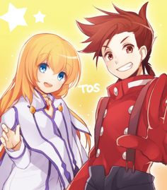 Juugonichi, Tales of Symphonia, Colette Brunel, Lloyd Irving, Red Gloves, Red Handwear
