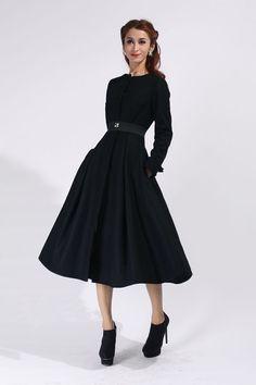 Wow! pure regal vintage grace... vintage 1940s coat princess coat ...