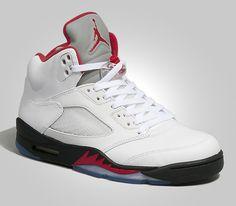 check out 3a0c9 c1c1c Air Jordan V Retro-White-Fire Red-Black  sneakers  kicks Jordan