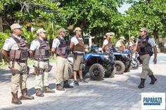 Policiamento em Praia do Forte - Bahia.