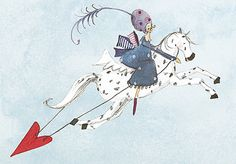 Doppelkarte Silke Leffler / KLK 14901 Bunt, Illustration, Art Decor, Animation, Templates, Cartoon, Drawings, Happy, Nature