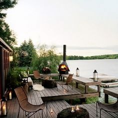 One of my favorite fantasty destinations of all time: Thom Filicia's lake house. Isn't this dock dreamy?