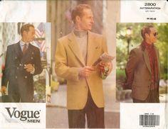 Vogue Men 2800 Suit Jacket Formal Casual Dinner Sewing Pattern UNCUT FF OOP NEW #Vogue #mensjacket #sewingpattern
