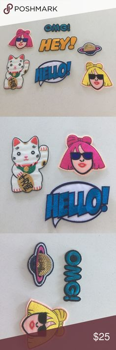 Fashion Patch Get a free high-quality woven patch of your choice while supplies last with any purchase of at least  $15. Tag me to claim and to make sure the one you want is available before buying. All pictured are available presently. I'll update which ones remain here going forward. Make handbags, totes, jackets and jeans chic and fresh with any one of these beauties. Accessories