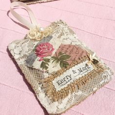 Vintage style personalised gift  fabric & by PrettyVintageCraftCo