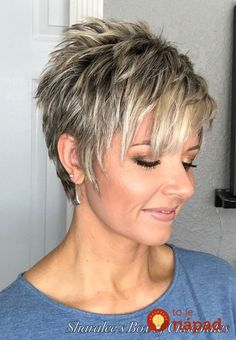 How to style a longer pixie cut - great style for mature women - . - How to style a longer pixie cut – great style for mature women – # Short hairstyles for women f - Pixie Haircut For Thick Hair, Funky Short Hair, Short Grey Hair, Short Pixie Haircuts, Short Choppy Hairstyles, Short Hair Pixie Edgy, Short Hair Back, Longer Pixie Haircut, Haircut Bob