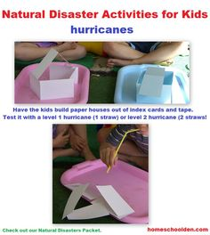 Hurricane Hands-On Activities (and other Natural Disasters) - Homeschool Den Weather Activities, Teaching Activities, Hands On Activities, Science Activities, Science Worksheets, Counting Activities, Summer Activities, Science Experiments, Teaching Ideas