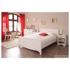Študentská posteľ Netie 160x200cm - transparentne biela