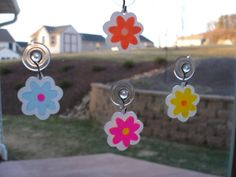 Set of four cheerful 3D flower fluorescent by MLSLaserEngraving, $15.00
