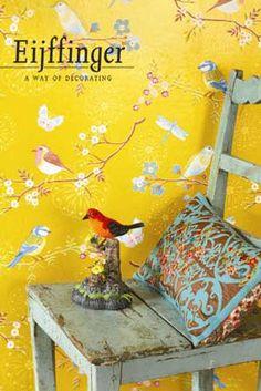Eijffinger PIP studio behang Early birds geel