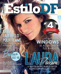 Laura Pausini, quien celebra con EstiloDF cuatro años de éxito y estilo. 24 de noviembre 2014.