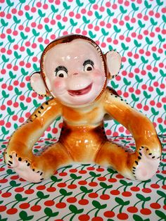 Vintage Super Cute Cheeky Kitschy Monkey Planter by modpets, $24.00