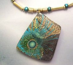 Stratosphere Necklace by NITANANNA   Polymer Clay Planet