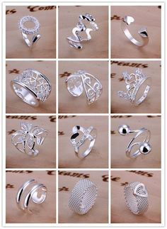 Wholesale Women&Apos;S Girls Classic Hot Selling Silver Jewelry Rings #8