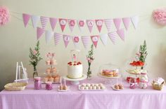 Why am I already planning my daughter's party at 5 months old??  Because pink stuff is sooo cute!