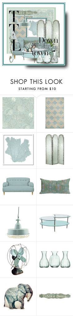 """""""Pastels"""" by surgrn38 ❤ liked on Polyvore featuring interior, interiors, interior design, home, home decor, interior decorating, York Wallcoverings, Maples, Karen Robertson Collection and Walker Edison"""