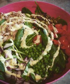 Tuna pea poppy salad