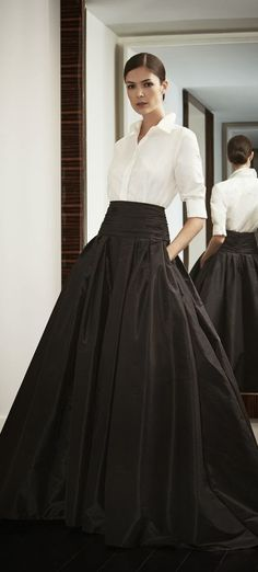 Look to Love: Beautiful Ball Skirts {The Most Classic Way to Wear a Ball Skirt by Carolina Herrera, of Course!}