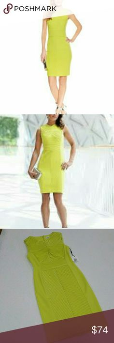 NWT Calvin Klein  lime dress size 2 Nice dress Calvin Klein Collection Dresses