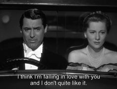 Trending GIF classic film warner archive alfred hitchcock cary grant in love suspicion joan fontaine Film Quotes, Funny Quotes, Funny Memes, Hilarious, Im Falling In Love, The Blues Brothers, Movie Lines, Cary Grant, Feeling Loved