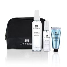 The perfect travel kit with ISO Recovery, and 02 Calming Gel, in a nice travel bag. Travel Kits, Travel Bag, Cosmetic Sets, Survival Kit, Coding, Skin Care, Cosmetics, Holiday, Products