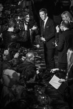 B & W {Opening night gala screening of 'The Imitation Game' during the 58th BFI London Film Festival}