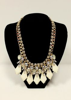 You definitely won't have a hard time finding the right outfit to pair the Sparkle Bib Necklace with! $22