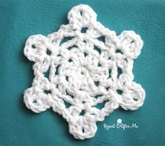 I'm excited about the possibility of a white Christmas in my hometown of Seattle, Washington! The thought of my kids seeing little white flakes inspired me to design a little crochet snowflake pattern