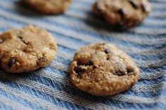 raw chocolate chip cookies (rolled oats, cashews)
