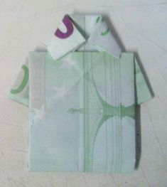 Shirt Wrinkles Money, Banknote To Shirt Wrinkles Origami Instructions Creative, It Is Not Easy To Tear And Made Easy, Its Model Is Beautiful Diy Origami, Origami Shirt, Money Origami, Origami Instructions, Make It Simple, Banknote, Model, Shirts, Beautiful