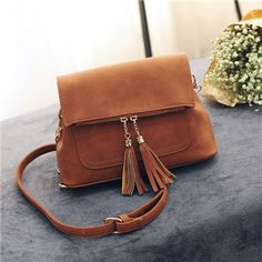 Hot Sale Vintage Chain Tassel Women Bag Leather Handbags Crossbody Bags For Women Shoulder Messenger Bags Small Bolsas Femininas