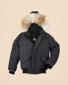 Canada Goose Men's Borden Fur-Trimmed Puffer Jacket - Black - Size