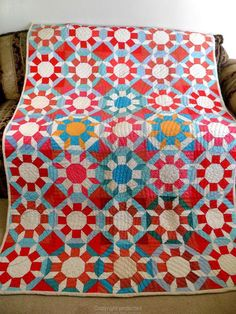Antique Vintage Handmade Quilt 1930's Castle Wall Quilt Feed Sack 2 | eBay